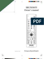 Sru5030 55 Dfu Eng Manual Controle Remoto Phillips 5030
