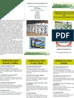Programa Fertilizacion Arveja, Ejote, Brocoli y Zucchini