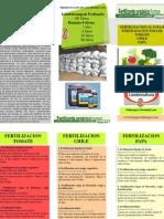 Programa Fertilizacion Papa, Chile y Tomate