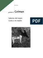 Gelman Juan - Salarios Del Impio - Carta a Mi Madre