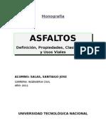 Monografía - ASFALTO