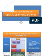 The Legal Nature of DENRMGB Mining Permits V