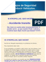 Maneje Con Seguridad Atropello