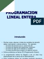 08 Programacion Lineal Entera