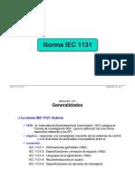 NORMA IEC61131 programación PLC