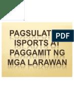 Pagsulat Ng Isports At