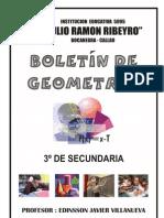 BOLETIN GEOMETRIA 3º SECUNDARIA - JRR 2010