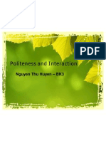 Politeness and Interaction NTH