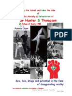The Anxiety & Detestation of Dr Hunter S Thompson at College of Marin 1985
