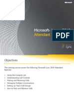 Microsoft Lync 2010 Attendant Training
