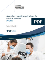 Australian Regulatory Guidelines for Medical Devices