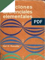 Ecuaciones Diferenciales Element Ales Rainville