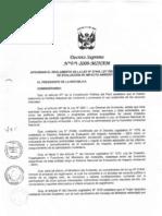 Decreto Supremo Nº 019-2009-MINAM_ Aprueban Reglamento de Ley Nº 27446- Ley del Sistema Nacional de Evaluación de Impacto Ambiental
