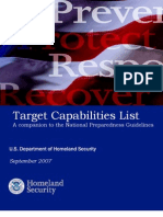 DHS Target Capabilities List