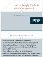 Introduction to Supply Chain & Logistics Management