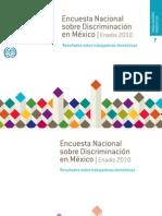 Encuesta sobre discriminación en México - Trabajadoras Domésticas