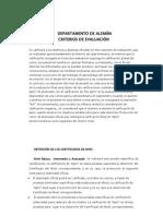 Criterios de evaluación curso 2011-12