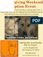 Animal Friends Humane Society Thanksgiving Weekend Adoption Event