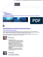 Game Developers List All-Ti..