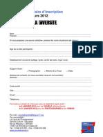 Formulaire d'inscription concours  Pour la Diversité