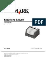 Lexmark e250d Manual