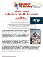 Sailing to Hawaii...the First Attempt by Arnold Rowe