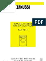 Manual de Utilizare ZANUSSI FAE825 V