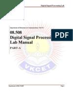 08.508 DSP Lab Manual Part-A