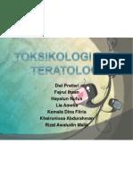 Toksikologi Dan Teratoligi an Hewan