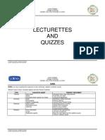 Lecturettes and Quizzes