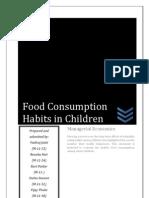 Food Consumption Habits in Children