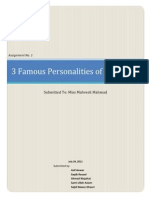 3 Famous Personalities of the World -- Assignment