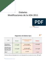 Diabetes Modificaciones de La ADA 2011 [Modo de ad