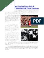 Alasan Mengapa Stadion Sepak Bola Di Inggris Tidak Menggunakan Pagar Pembatas