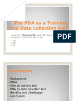 The PDA as a Training and Data Collection