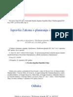 Ispravka Zakona o Planiranju i Izgradnji