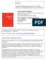 Pavlik, The Impact of Technology on Journalism