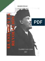 resumen de EL ESTADO Y LA REVOLUCIÓN de Lenin