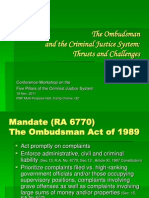 The Ombudsman and the Criminal Justice System - Thrusts and Challenges