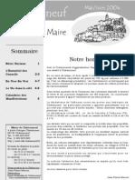 Lettre du Maire -2004-05