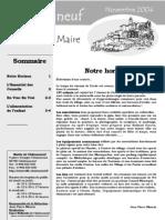 Lettre du Maire -2004-11