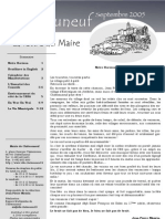 Lettre du Maire -2005-09
