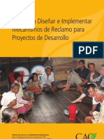 Guía para Diseñar e Implementar Mecanismos de Reclamo para Proyectos de Desarrollo