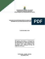 ANÁLISE DE SUSTENTABILIDADE DA CADEIA PRODUTIVA DE PEIXES ORNAMENTAIS NA REGIÃO METROPOLITANA DE FORTALEZA_Clara Melo Coe