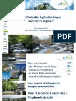 Potentiel hydroélectrique en France - Etude de l'Union française de l'électricité