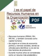Cuál es el papel de Recursos Humanos