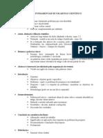 PARTES FUNDAMENTAIS DE UM ARTIGO  CIENTÍFICO
