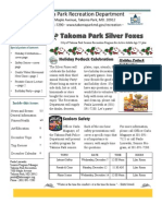 Silver Foxes Newsletter - December 2011 from the Takoma Park Recreation Department