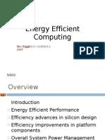 8.19 Energy Efficient Computing