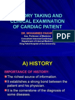 History Taking and Ce of Cardiac Patients